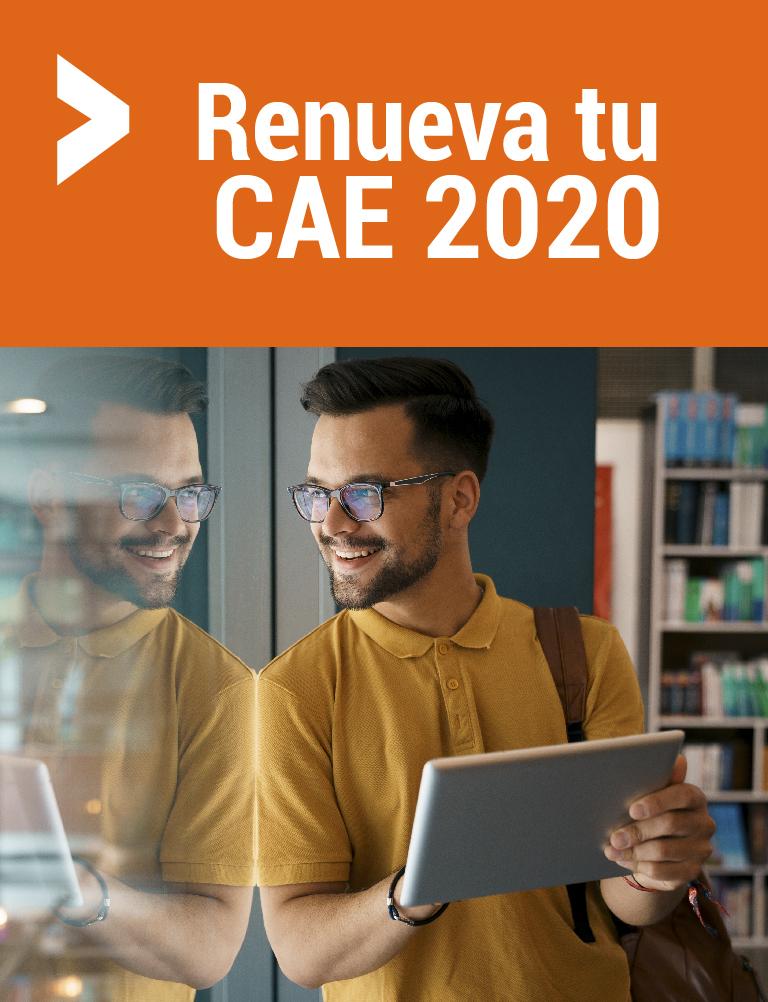Renueva tu CAE 2020